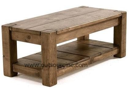 Chunky pine coffee table  sc 1 st  Outsourcinc - View Set & Outsourcinc - View Set