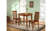 Mission dining set in rubber wood
